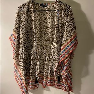 Boho animal print swim cover size M